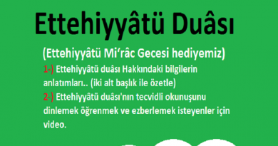 Ettehiyyatü Okunuşu ve Türkçe Anlamı (meali) Nedir? Ettehiyyat Faziletleri....